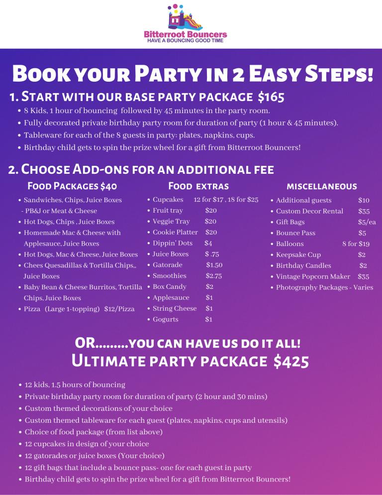 Birthday Parties Bitterroot Bouncers